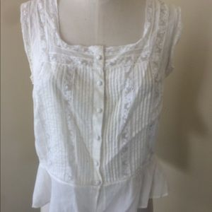 Ralph Lauren vintage look cami with lace 10 L
